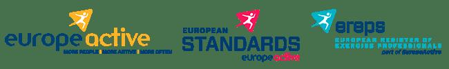At Work Skolens uddannelse til Fitnessinstruktør er akkrediteret og godkendt af Europe Active (EHFA) www.europeactive.eu og lever således op til Europæiske standarder for kvalitet, undervisning, fagligt indhold og eksamen for fitnessinstruktører.